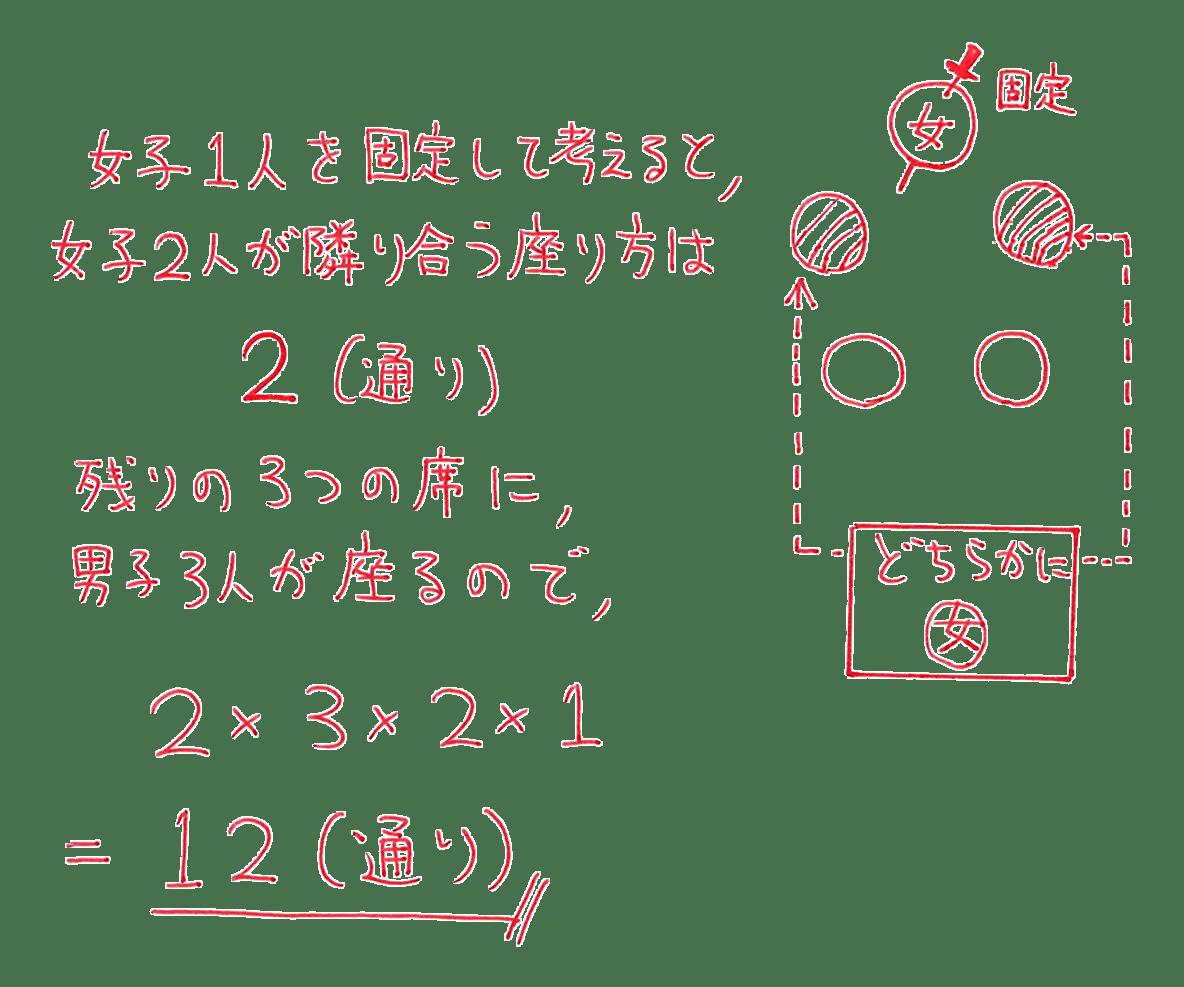 高校数学A 場合の数と確率21 例題の答え