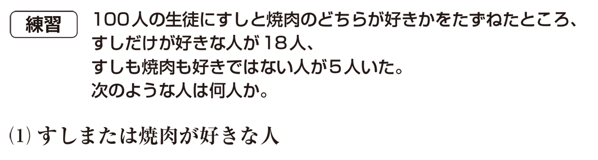 高校数学A 場合の数と確率6 練習 問題文と(1)
