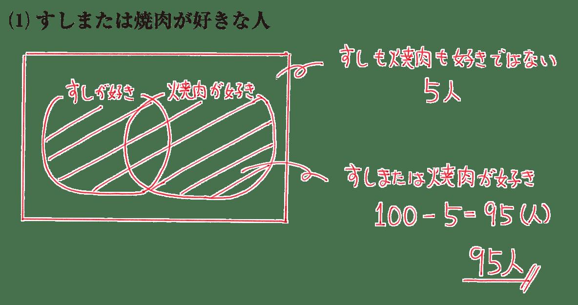 高校数学A 場合の数と確率6 練習(1)の答え