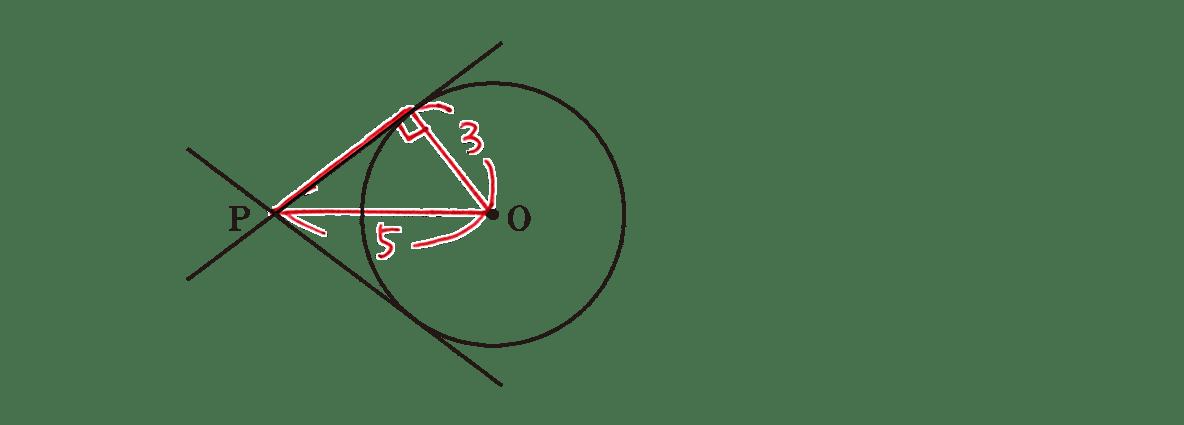 高校数学A 図形の性質26 練習の答え 問題の図に記入したもの