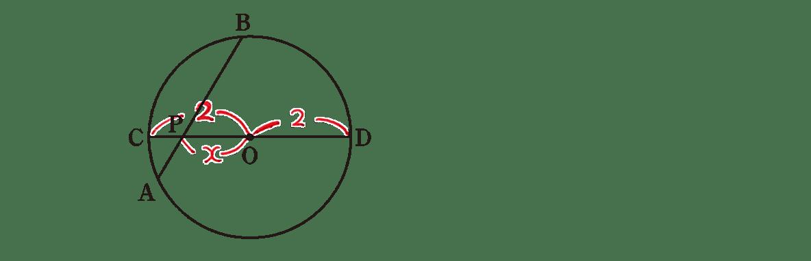 高校数学A 図形の性質32 練習の答え 問題の図に長さなど記入したもの