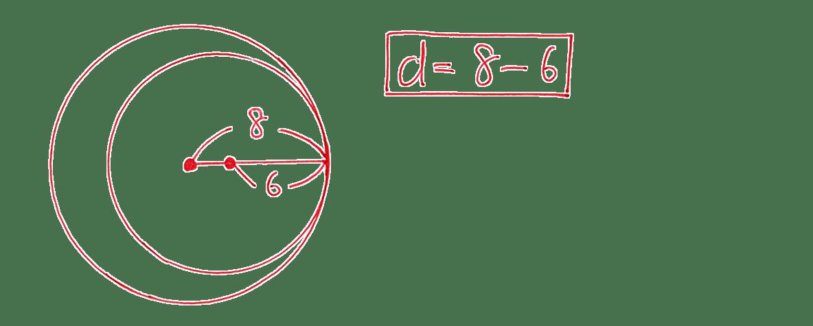 高校数学A 図形の性質34 練習(1)の答え 円の位置関係を示した図