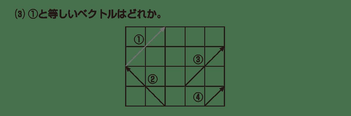 高校数学B ベクトル1 例題(3)と図