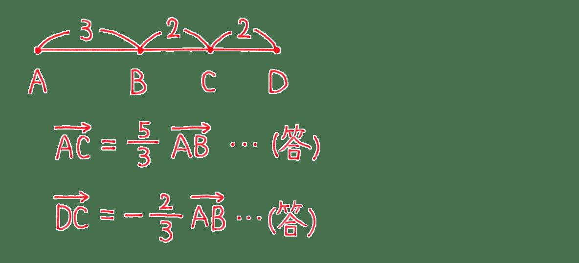 高校数学B ベクトル5例題 答え