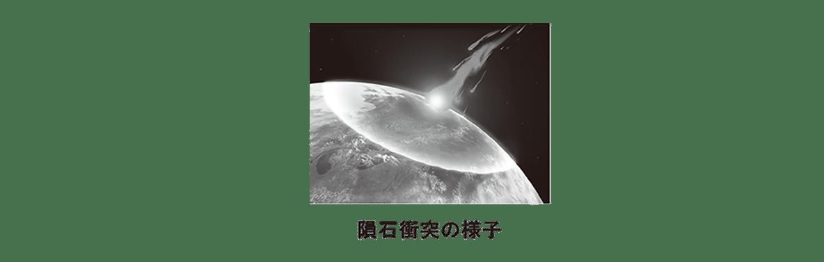 高校 生物 進化9 ポイント3 隕石衝突の様子