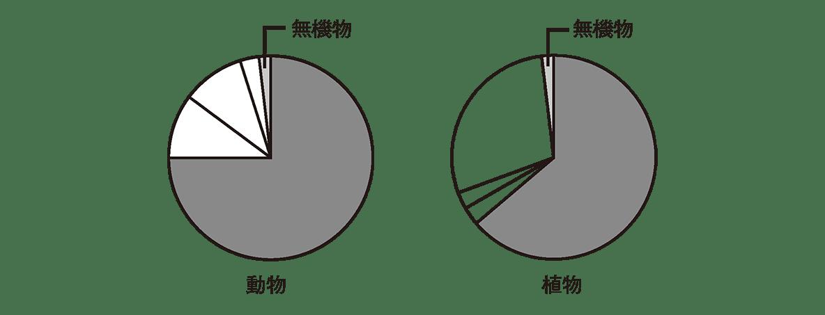 高校 生物 細胞2 ポイント2 2つの円グラフ