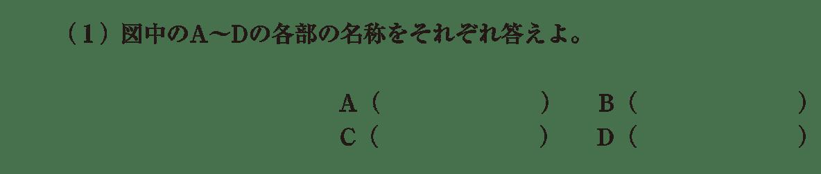 高校 生物 植物の発生6 演習1 演習1(1)