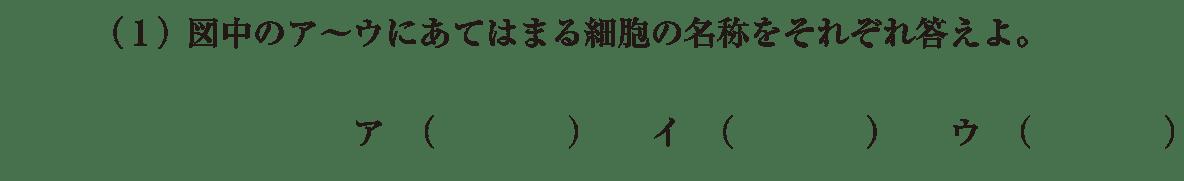 高校 生物 植物の発生6 演習2 演習2(1)