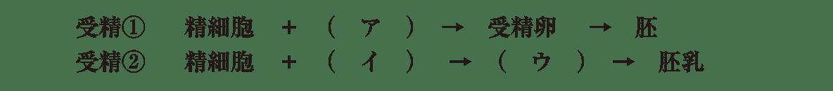 高校 生物 植物の発生6 演習2 演習2・受精①②の流れ