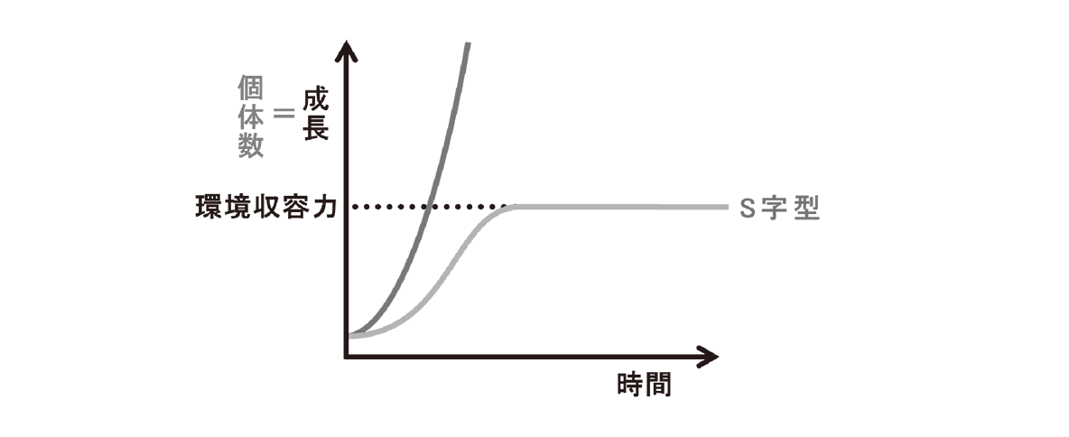 高校 生物 個体群1 ポイント3 グラフ・環境抵抗と矢印けす