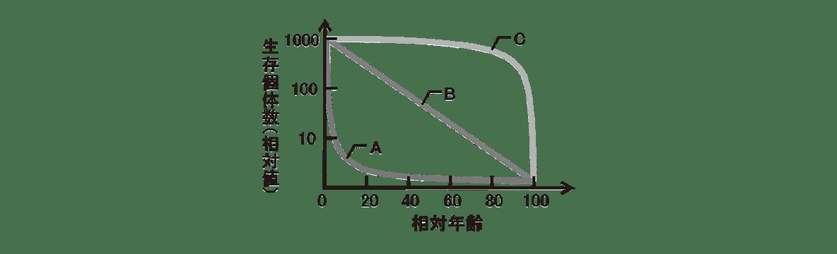 高校 生物 個体群3 練習 生存曲線