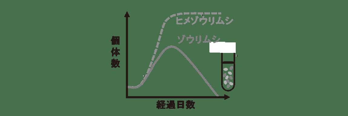 高校 生物 個体群8 ポイント2 左グラフ