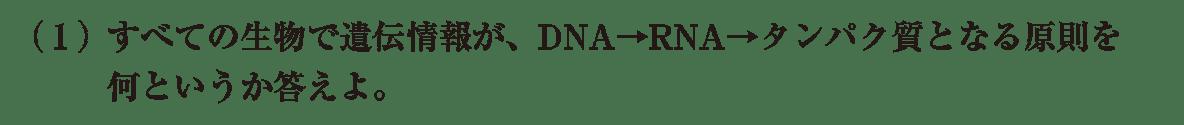 高校 生物基礎 遺伝子6 練習(1)