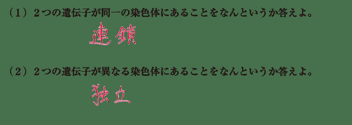 高校 生物基礎 遺伝子26 練習(2)