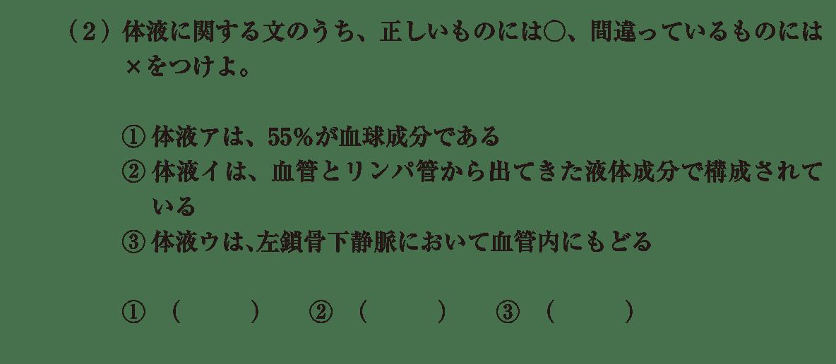 高校 生物基礎 体内環境の維持6 演習2 (2)