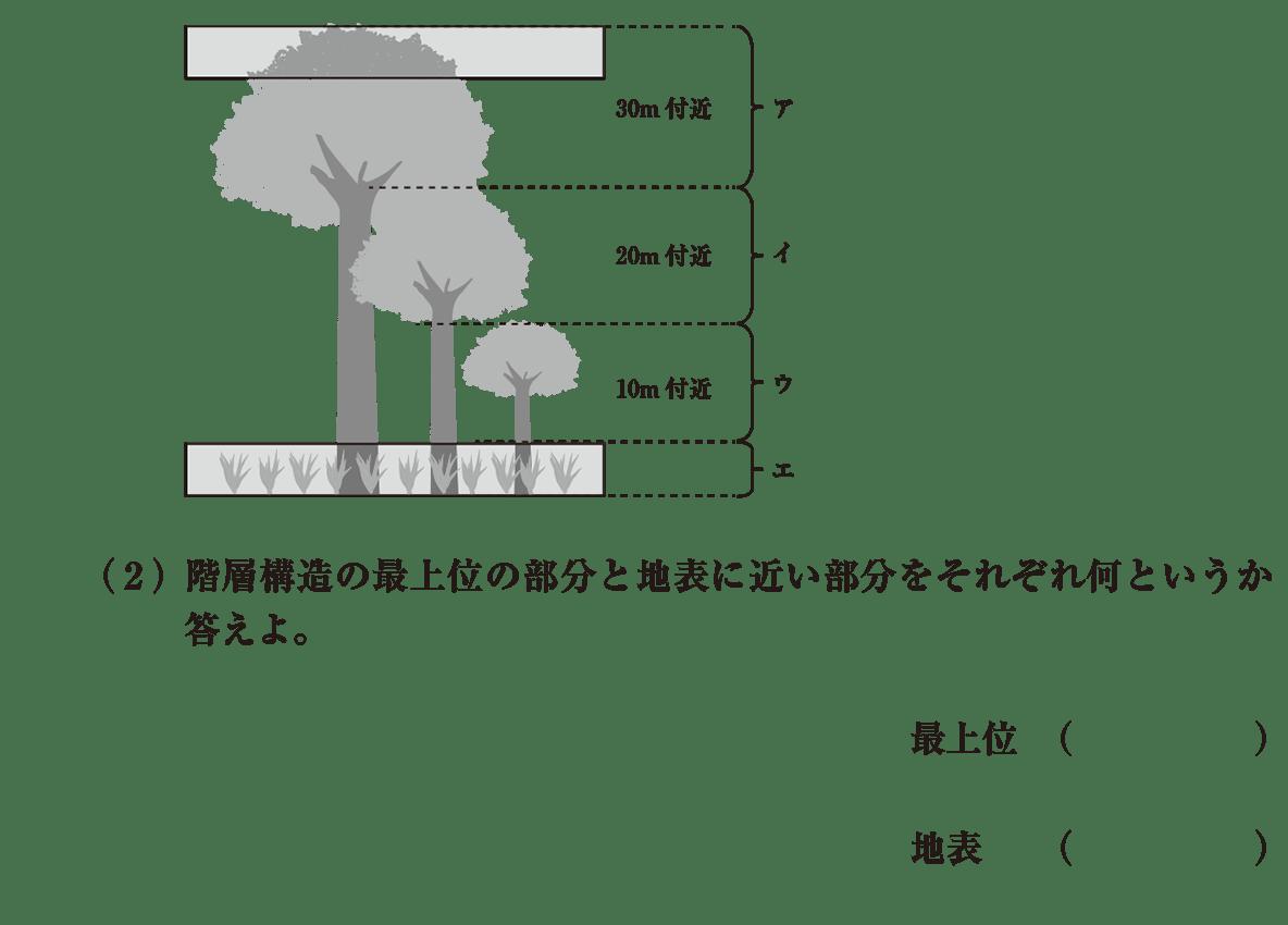 高校 生物基礎 生物の多様性 演習3 (2)と図
