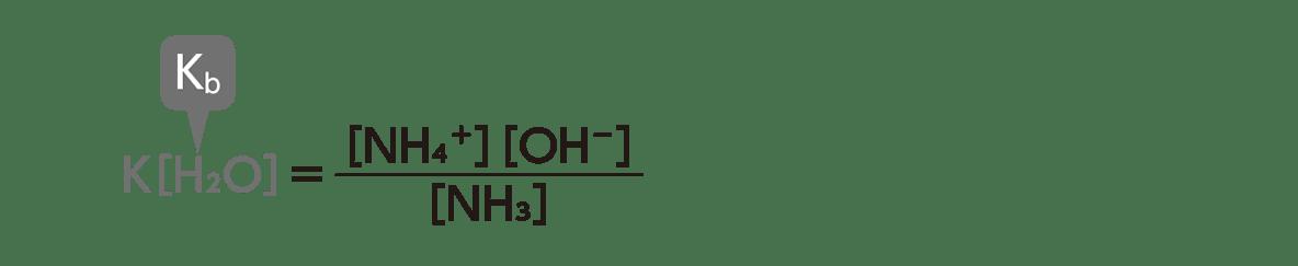 高校化学 化学反応の速さと平衡14 ポイント1 K[H2O]の式