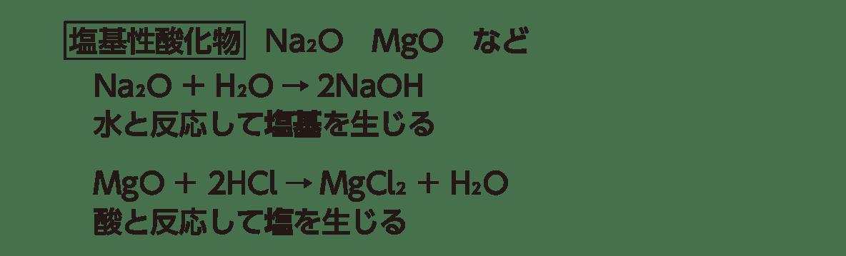 高校化学 無機物質7 ポイント1 「塩基性酸化物」の5行のみ
