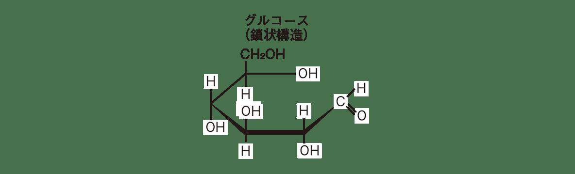 高校 化学 6章 2節 8 2 グルコース(鎖状構造)の構造式のみ