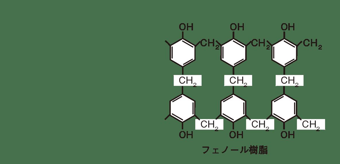 高校 化学 6章 3節 42 2 反応の図、フェノール樹脂のみ
