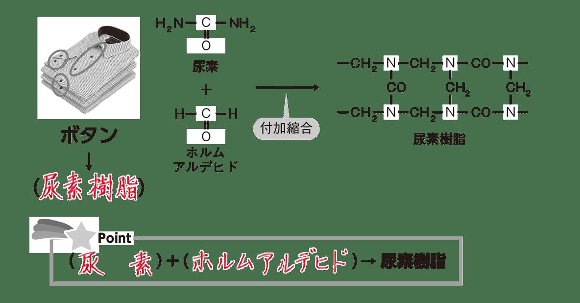 高校 化学 6章 3節 43 1 ポイント1の尿素樹脂の図とポイントすべて