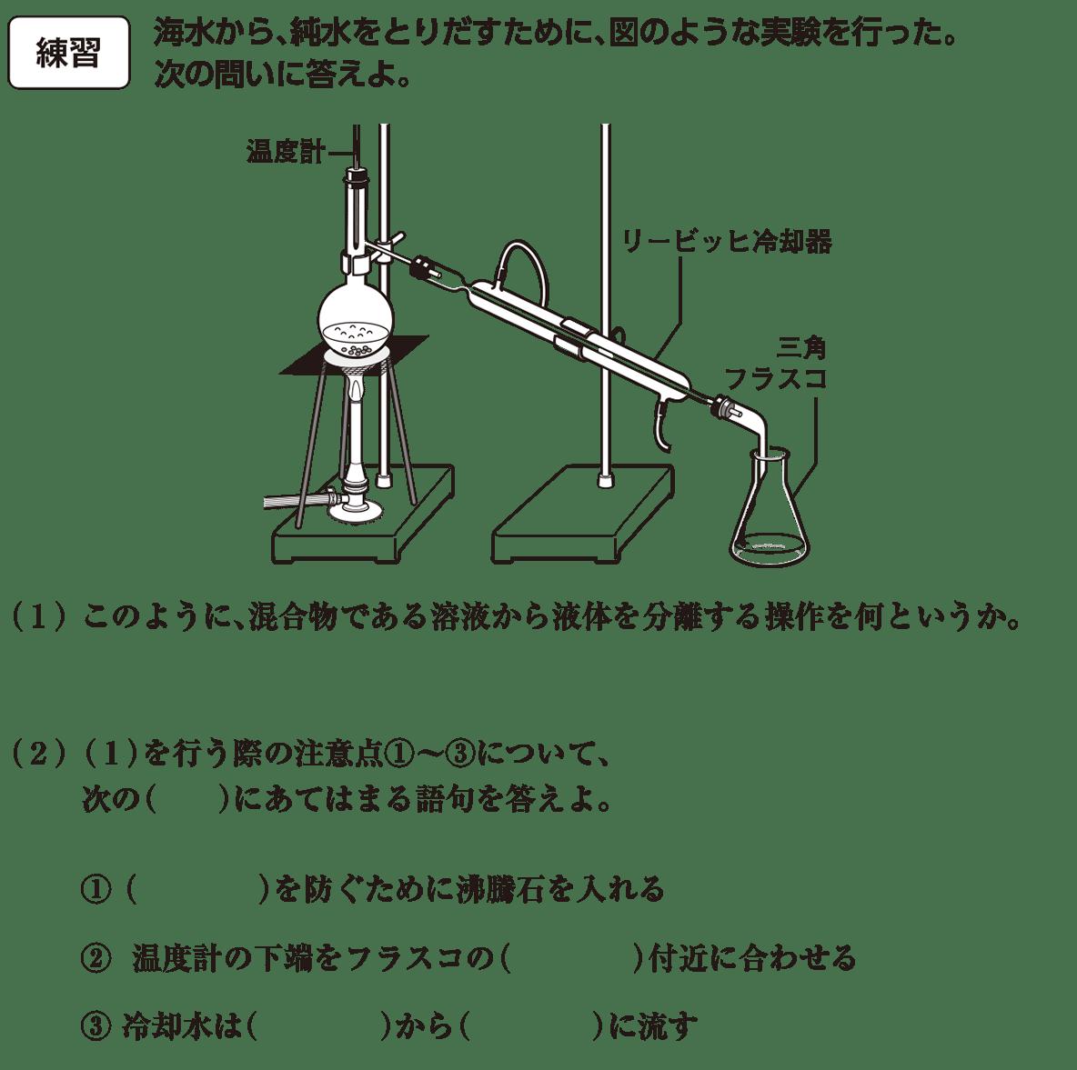 化学基礎 物質の構成 練習 答え空欄