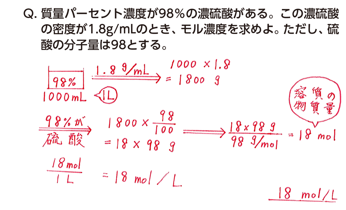 モル 濃度 計算 Mol(モル)の計算と公式①【感覚でカンタンに考える化学】