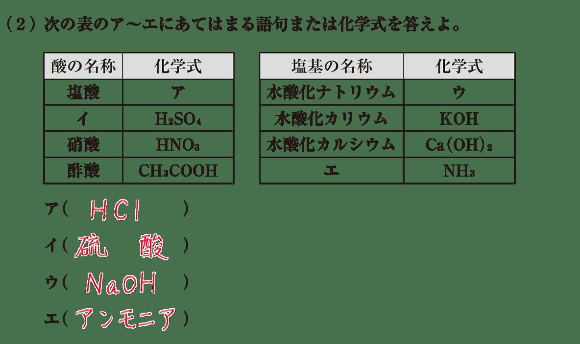 高校 理科 化学基礎 物質の変化18 練習(2) 答えあり