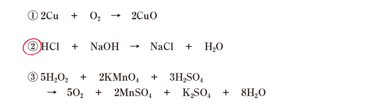 高校 理科 化学基礎 物質の変化43 演習1 答えあり