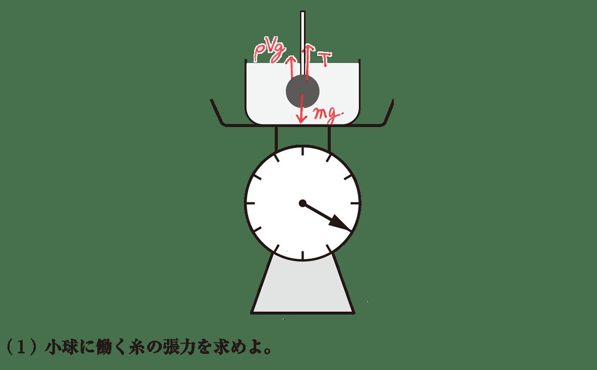 高校物理 運動と力46 練習 (1)問題文と書き込み図