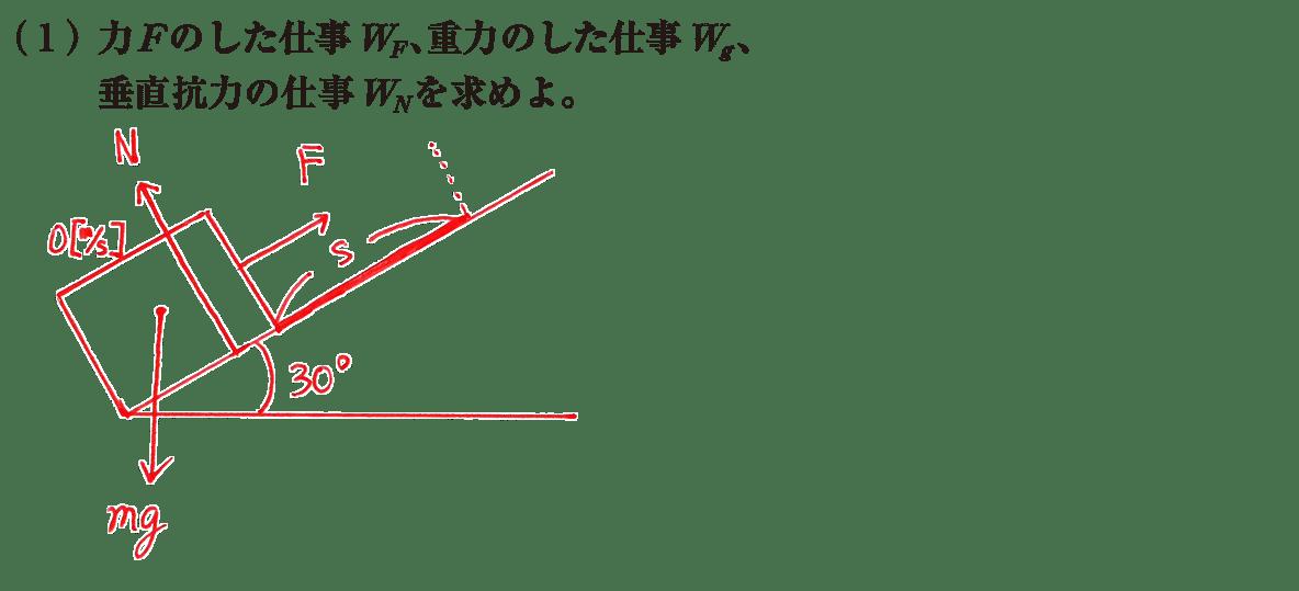 高校物理 運動と力53 練習(1)左上の図+(1)の問題文