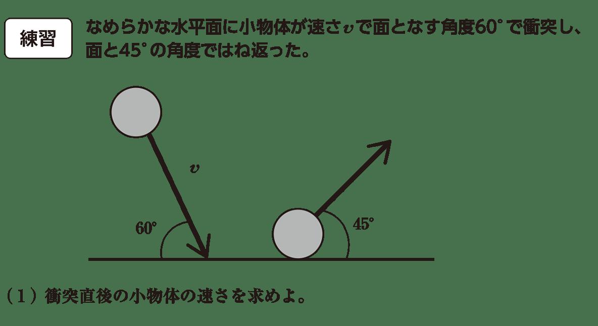 高校物理 運動と力66 練習 問題文と(1)と図 赤字なし