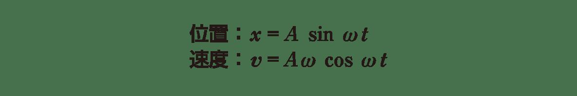 高校物理 運動と力86 ポイント1 図 右側1−2行目
