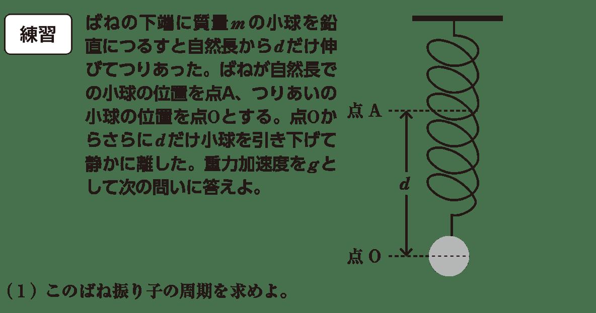 高校物理 運動と力88 練習と(1)の問題文 書き込みなし図