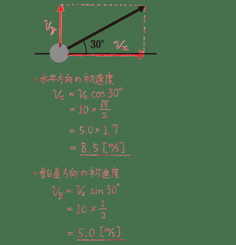 運動と力15の練習 直角三角形の図と式と答え