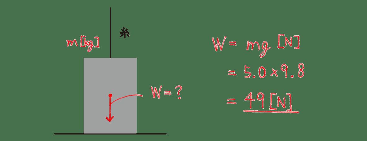 運動と力23の練習 (1)の式と答え