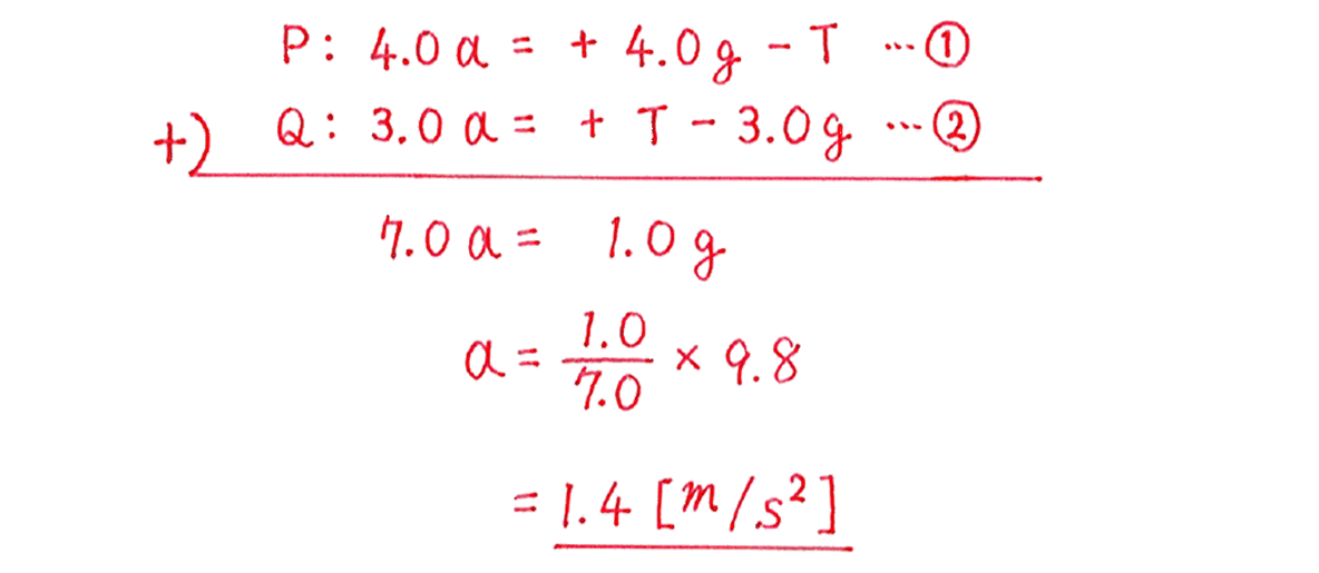 運動と力27の練習 図の下側1~5行目