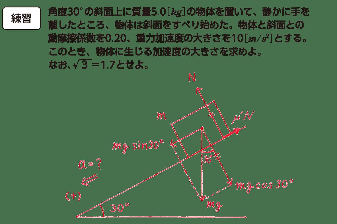 運動と力34の練習 問題文と図