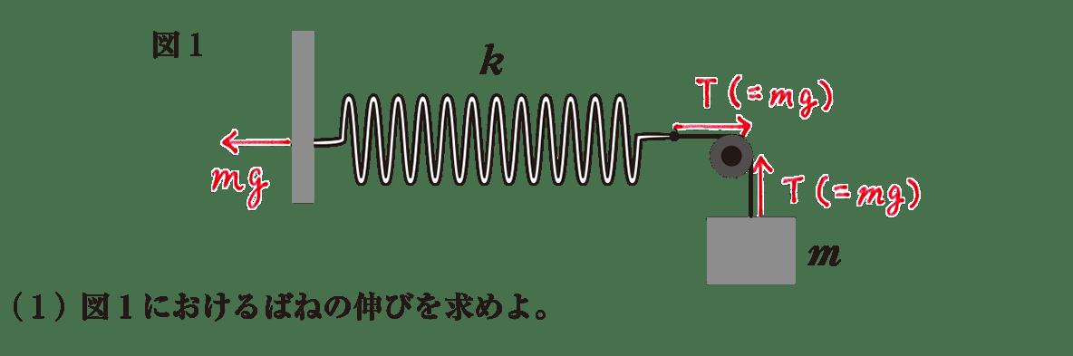 高校物理 運動と力42 練習(1)と書き込み図1