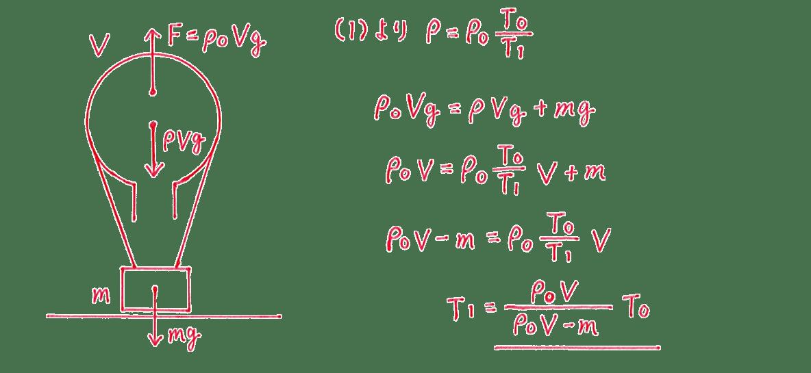 熱力学8 練習 (2)式と答え