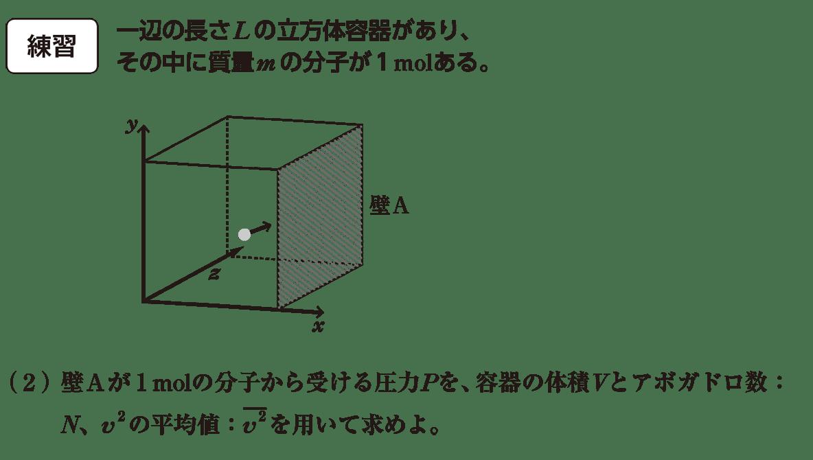 熱力学10 練習と(2)の問題文と図