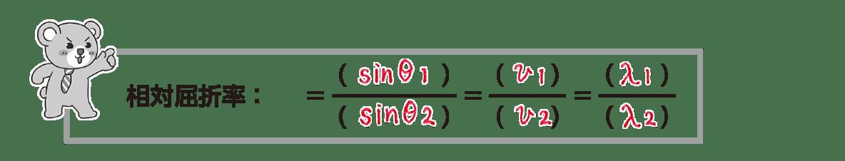 波動19 ポイント2 クマちゃんのまとめ 「n12=」の部分だけ消す