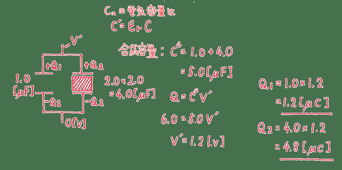 高校物理 電磁気17 練習 (2) 解答