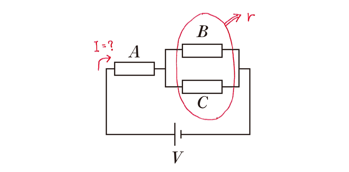 高校物理 電磁気28 練習の図 赤字の書き込みあり