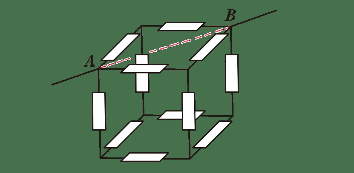 高校物理 電磁気29 練習 図 AB間の点線のみあり