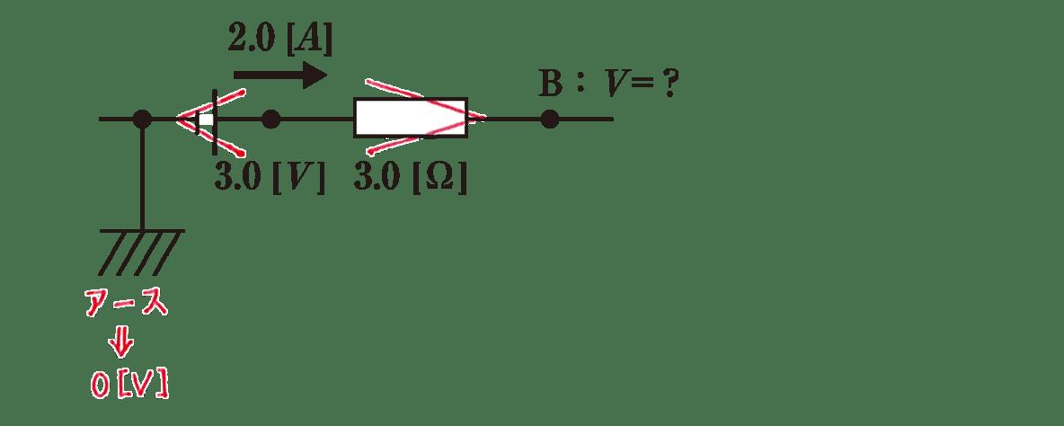 高校物理 電磁気31 練習 (2) 図 赤字の書き込みあり