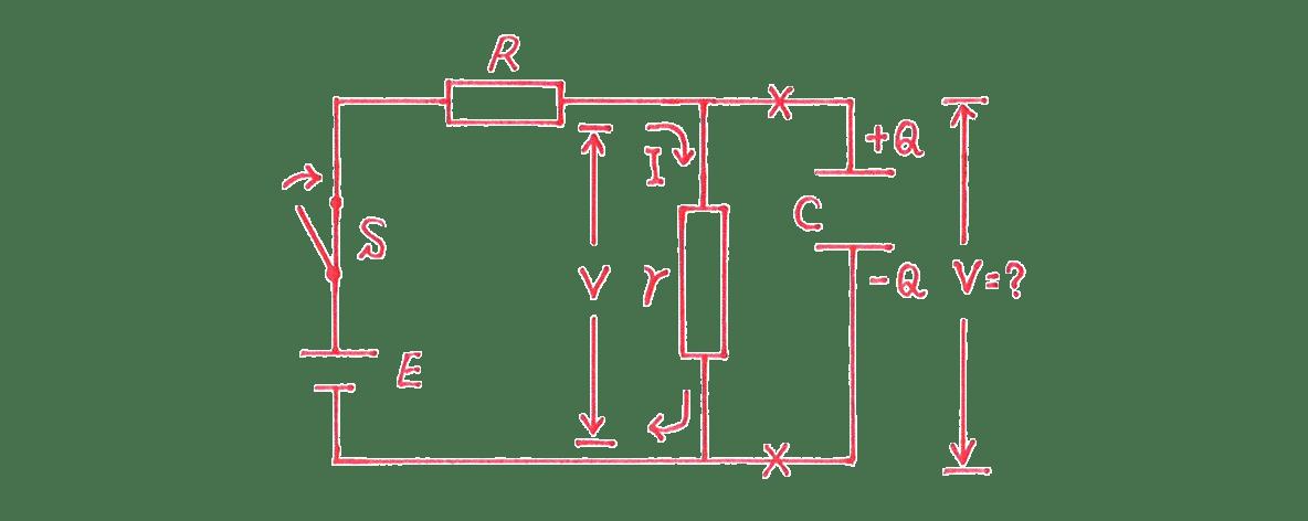 高校物理 電磁気35 練習 (2) 手書き図