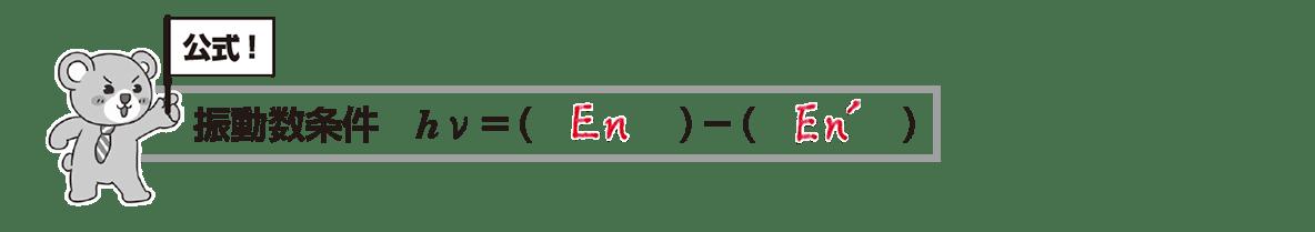 高校物理 原子9 ポイント1 クマさんのまとめ 空欄埋める