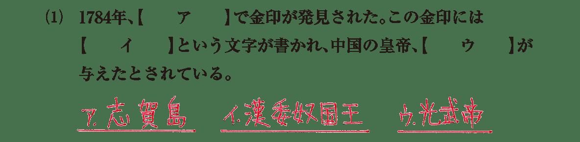 弥生時代の政治3 問題1(1)答え入り