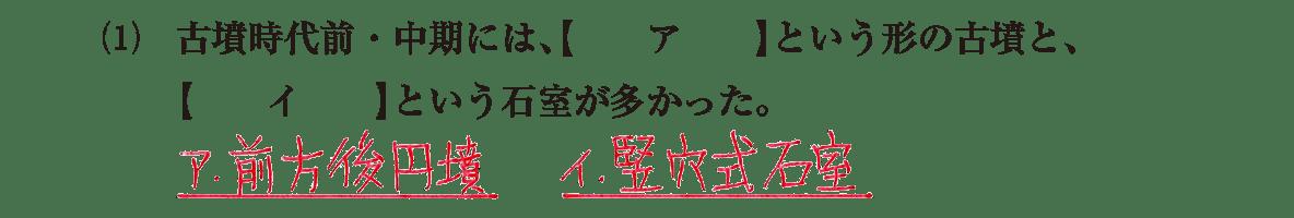 古墳文化3 問題1(1)
